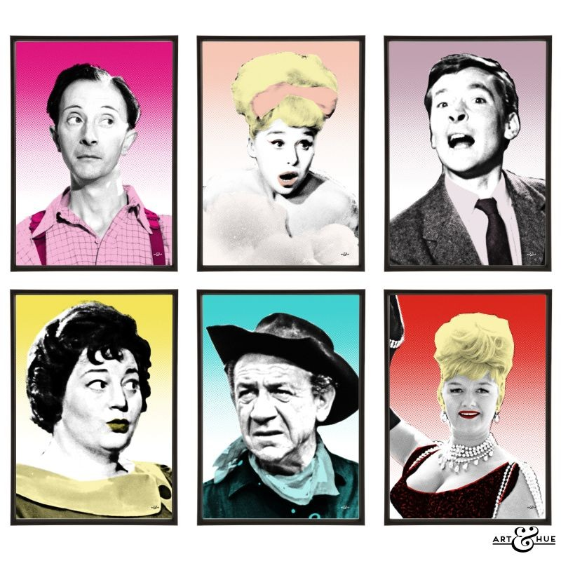 Carry On Team Pop Art Portraits