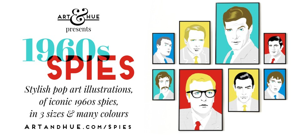 Art & Hue presents 1960s Spies illustrations