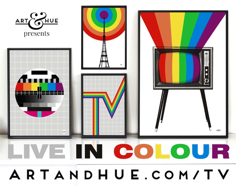 Live in Colour TV Group of pop art prints