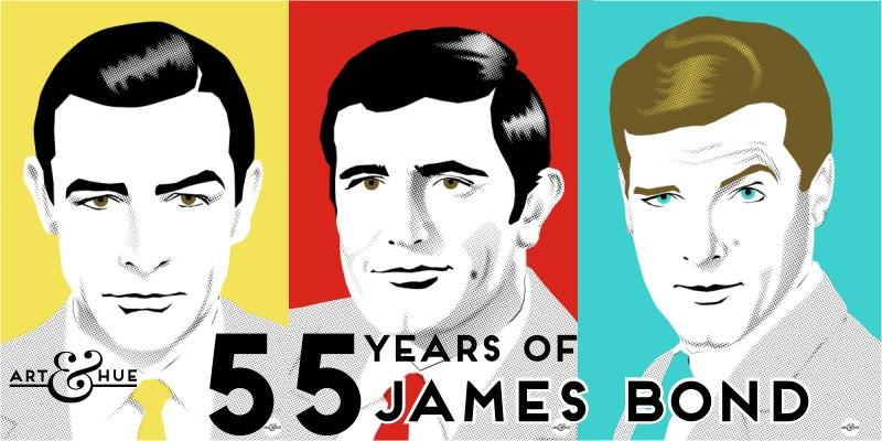 55 Years of James Bond - Pop Art by Art & Hue