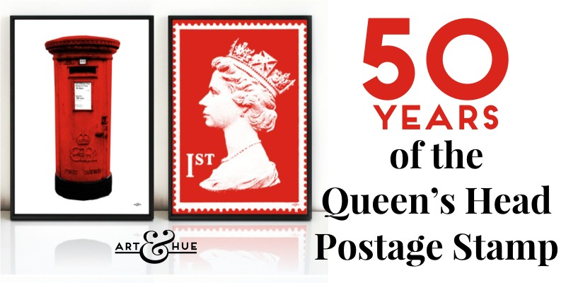 50 years of the Queens Head on Postage Stamps by Art & Hue