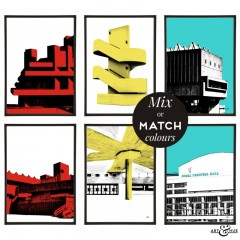 South Bank Group of pop art prints by Art & Hue