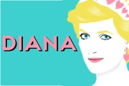 Princess Diana Illustratrated Pop Art by Art & Hue