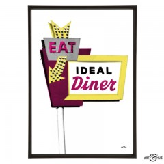 Diner_Sign_Fuchsia_Yellow