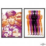 Mr Sloane Pair of pop art prints by Art & Hue