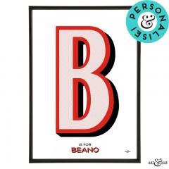 Beano_Alphabet_Letter_B_Red_Beano