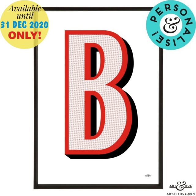 Beano_Alphabet_Letter_B_Red_Personalise