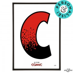 Beano_Alphabet_Letter_C_Red_Comic_Personalised