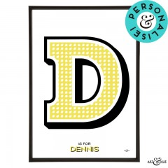 Beano_Alphabet_Letter_D_Yellow_Dennis