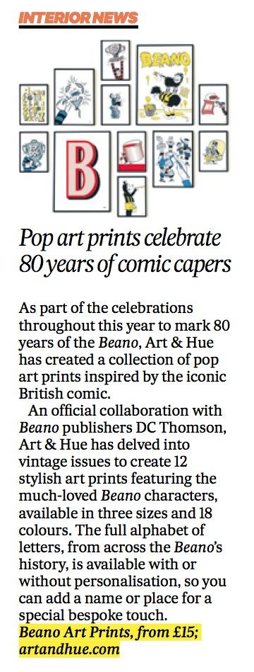 Scotland on Sunday Beano Pop Art Collection