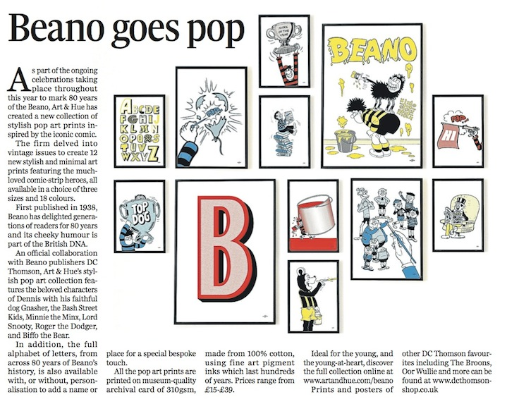 The Press & Journal Beano collection property section