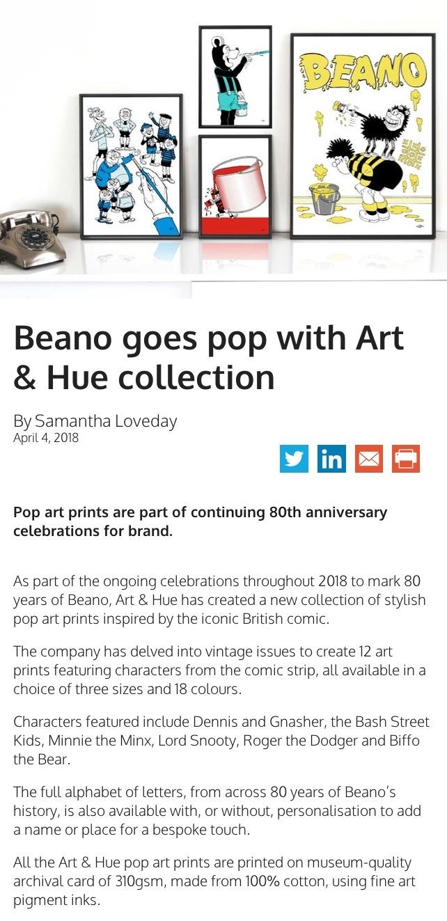 Licensing Source Beano Pop Art