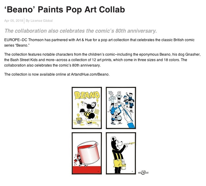 License Global Beano Pop Art