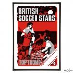British Soccer Stars Pop Art in Red