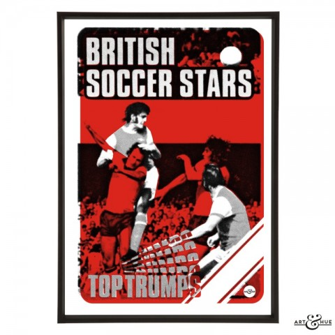 British Soccer Stars Pop Art in Red