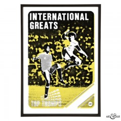 International Greats Football Pop Art in Yellow