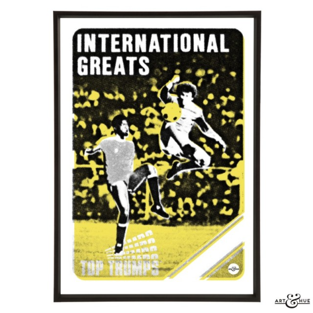 International Greats Football Pop Art in Yellow