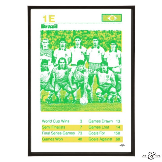 Brazil World Cup Football Team in Emerald & Yellow by Art & Hue