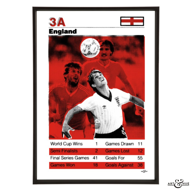 England World Cup Football Team in Red by Art & Hue