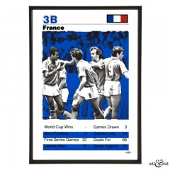 France World Cup 1990 Football Squad in Cobalt Blue by Art & Hue