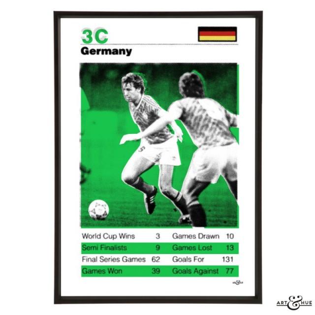Germany World Cup 1990 Football pop art in Emerald Green