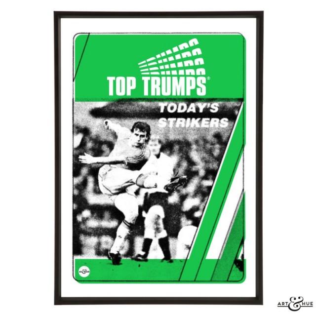 Today's Strikers Pop Art in Emerald Green