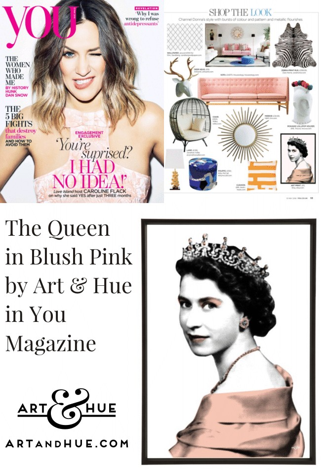 The Queen Pop Art by Art & Hue in You Magazine
