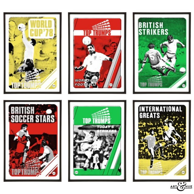 Top Trumps Football World Cup Cards Pop Art collection by Art & Hue