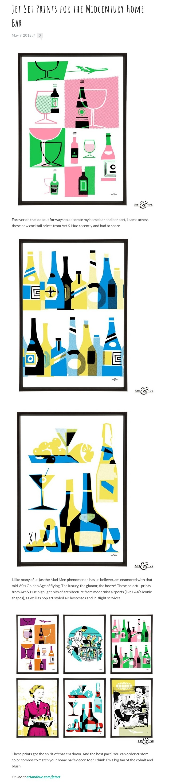 Jet Set Prints for the Midcentury Home Bar | Stir and Strain