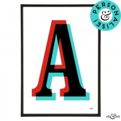Modernist Alphabet Letters and Numbers Personalise