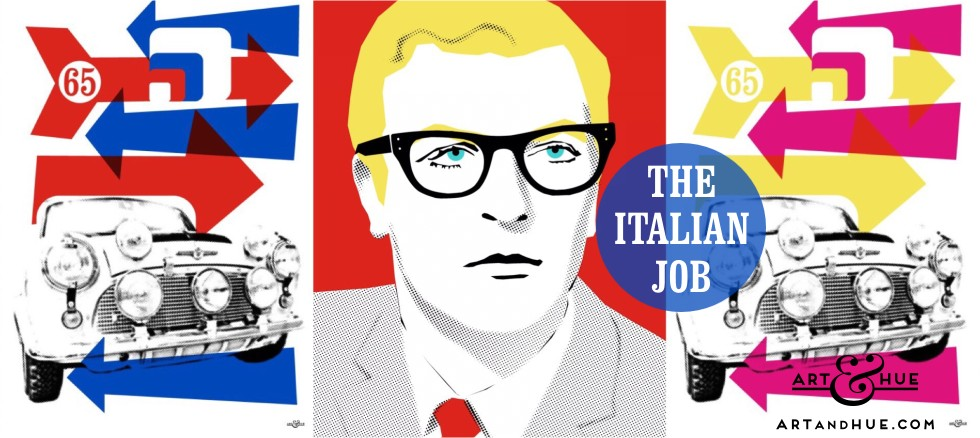 The Italian Job with Michael Caine plus Mini Coopers