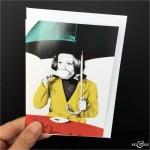 British Tea Greeting Card The Avengers Emma Peel Diana Rigg Black