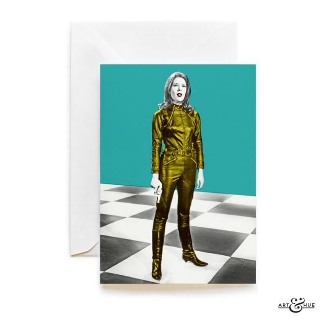Chess Board Greeting Card The Avengers Emma Peel Diana Rigg