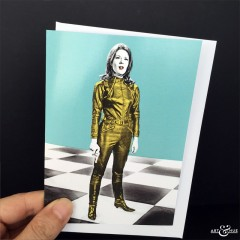 Chess Board Greeting Card The Avengers Emma Peel Diana Rigg Scale
