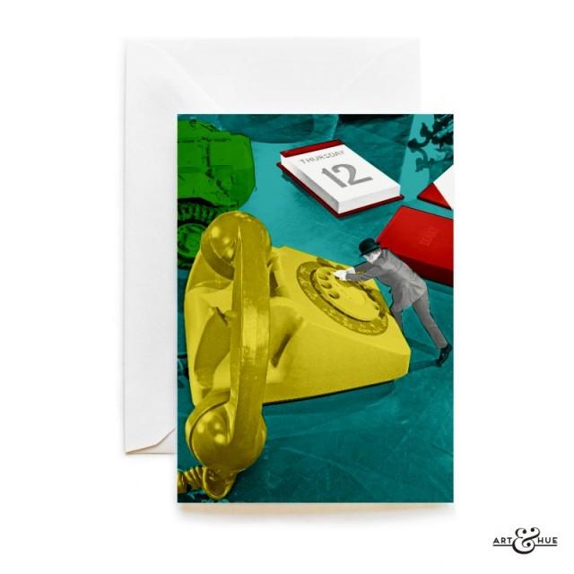 Desk Phone Greeting Card The Avengers John Steed Patrick Macnee