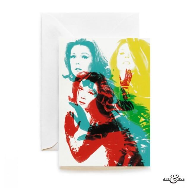 Karate Greeting Card The Avengers Emma Peel Diana Rigg