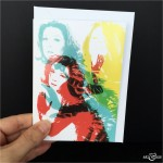 Karate Greeting Card The Avengers Emma Peel Diana Rigg BLK