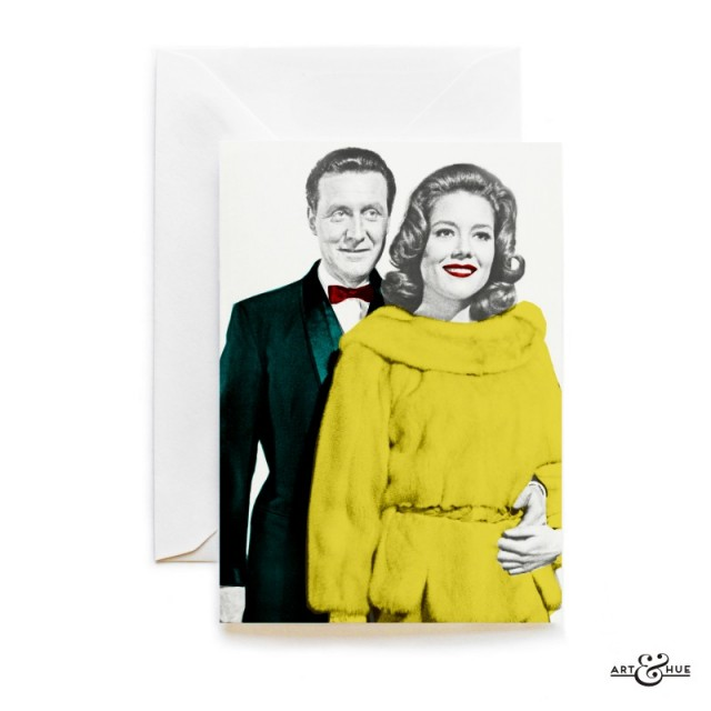 Greeting Card The Avengers Steed and Emma Peel