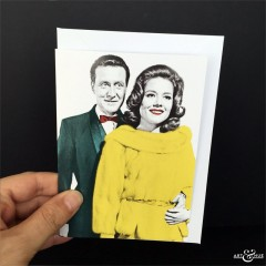 Greeting Card The Avengers Steed & Emma Peel
