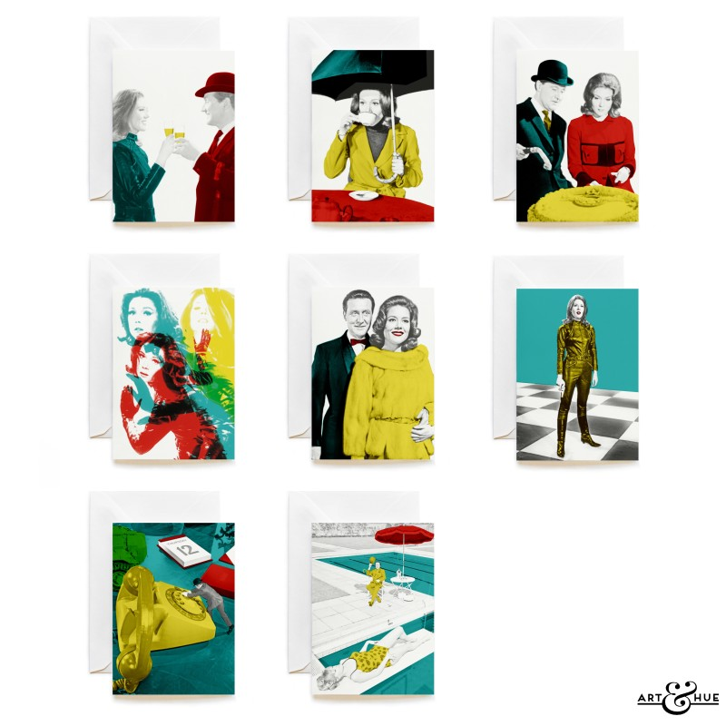 Group of 8 Greeting Cards with The Avengers