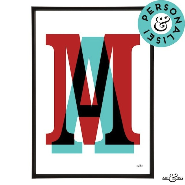 Modernist Alphabet Overlap Due of stylish letters numbers or characters