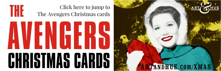 The Avengers Christmas Cards with Steed & Mrs Emma Peel by Art & Hue