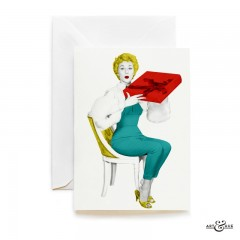 Gift Box greeting card with actress Carole Lesley