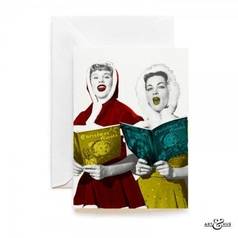 Christmas Carols card with Susan Stephen & Yvonne Furneaux by Art & Hue