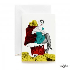 Christmas Chimney card with actress Valerie Carlton by Art & Hue