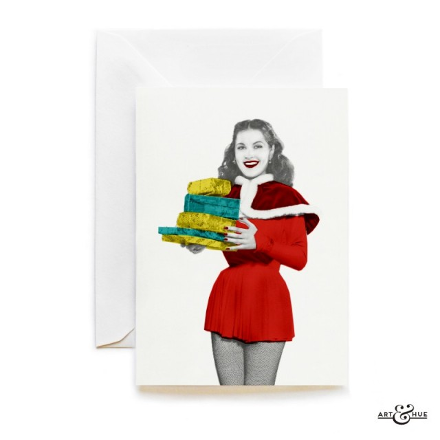 Christmas Gifts card with actress Yvonne Furneaux by Art & Hue