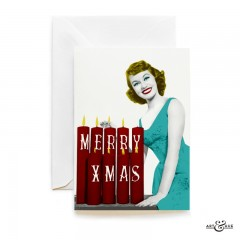 Merry Xmas with actress Janette Scott Christmas Card by Art & Hue