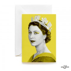 Queen Elizabeth II greeting card in Yellow by Art & Hue