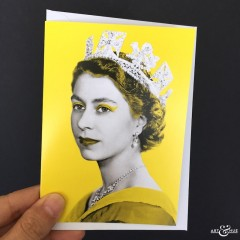 GREETING_CARD_Queen_Elizabeth_II_Yellow_scale