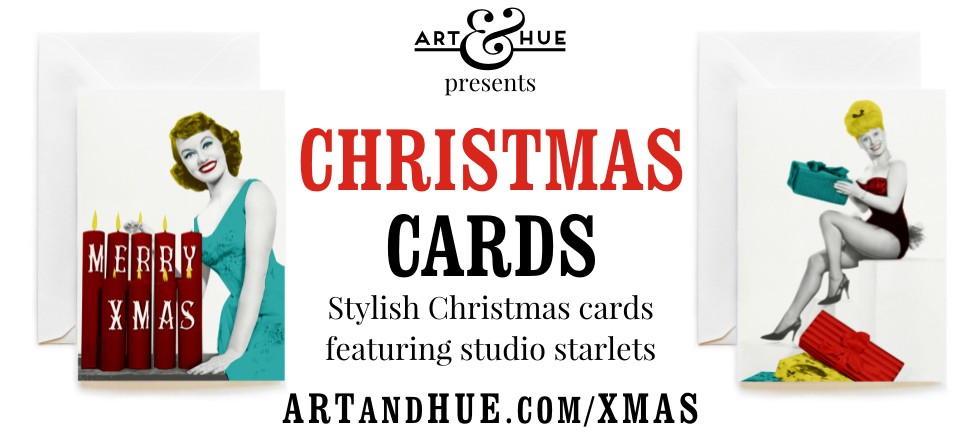 Stylish Christmas Cards featuring studio starlets & The Avengers by Art & Hue